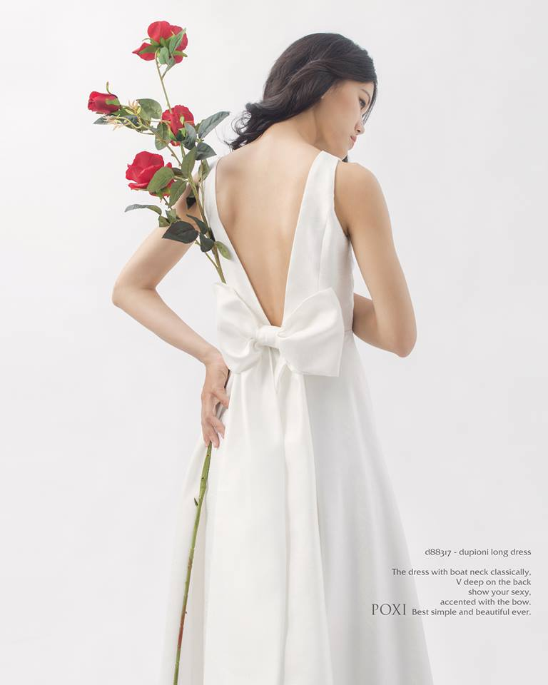 Backless wedding dresses ( white) by Poxi -vietnam wedding custumes - vietnam wedding dress - vietnam wedding dress