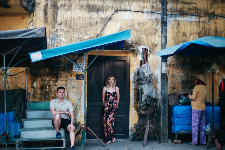 street life with love taken by hoi an photographer - vietnam wedding photographer in hoi an